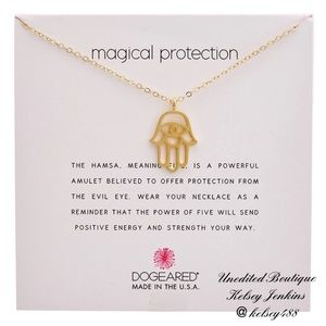 NWT - DOGEARED Gold Magical Protection Necklace